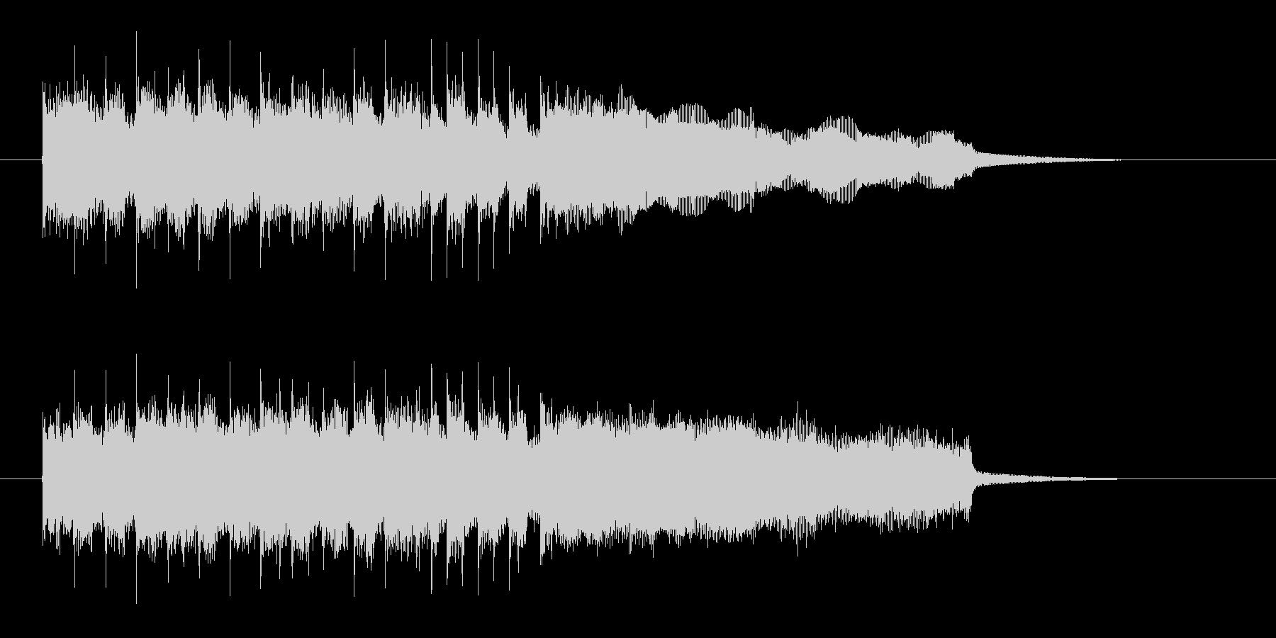 おしゃれで明るいシンセギターサウンドの未再生の波形