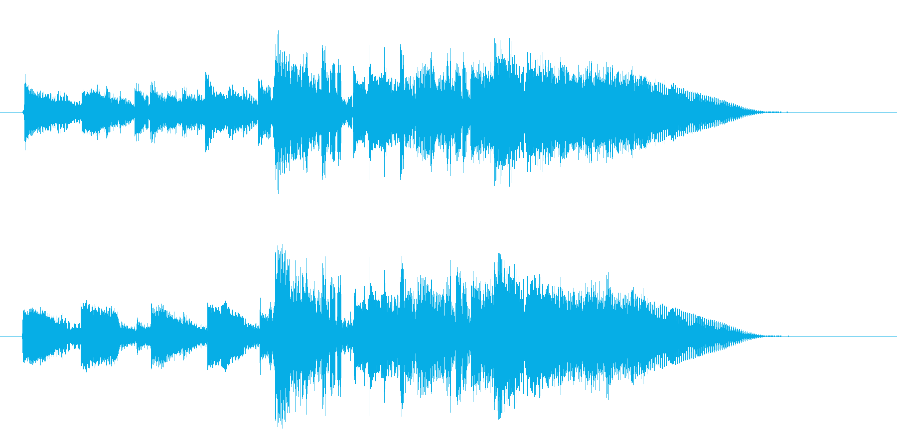 ロックなイメージのイントロの再生済みの波形