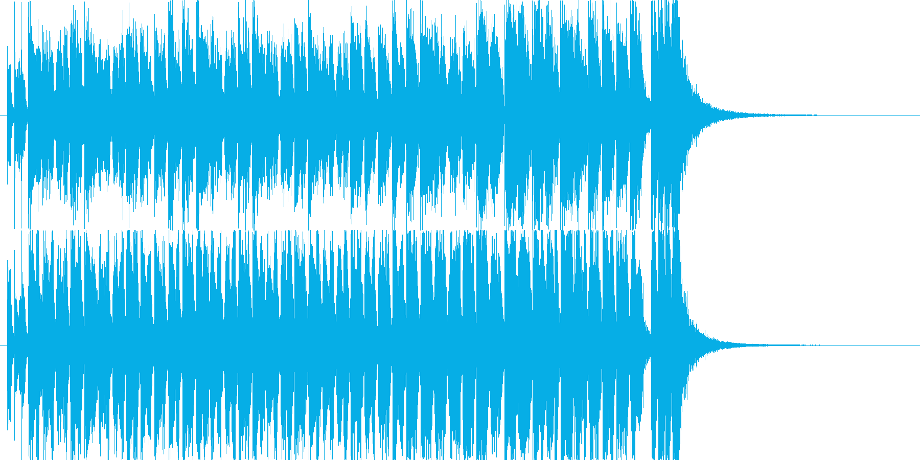 2お菓子CMや小さい動物映像BGM B7の再生済みの波形