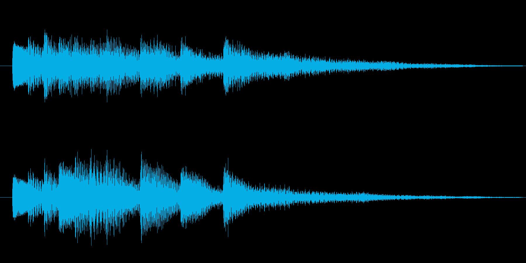 シリアスな場面転換やアイキャッチ向きの再生済みの波形