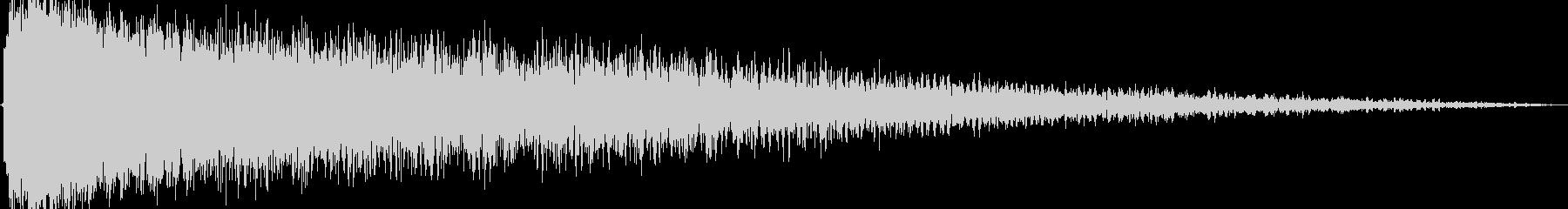 ショックを受ける(ピアノの音色を加工)の未再生の波形