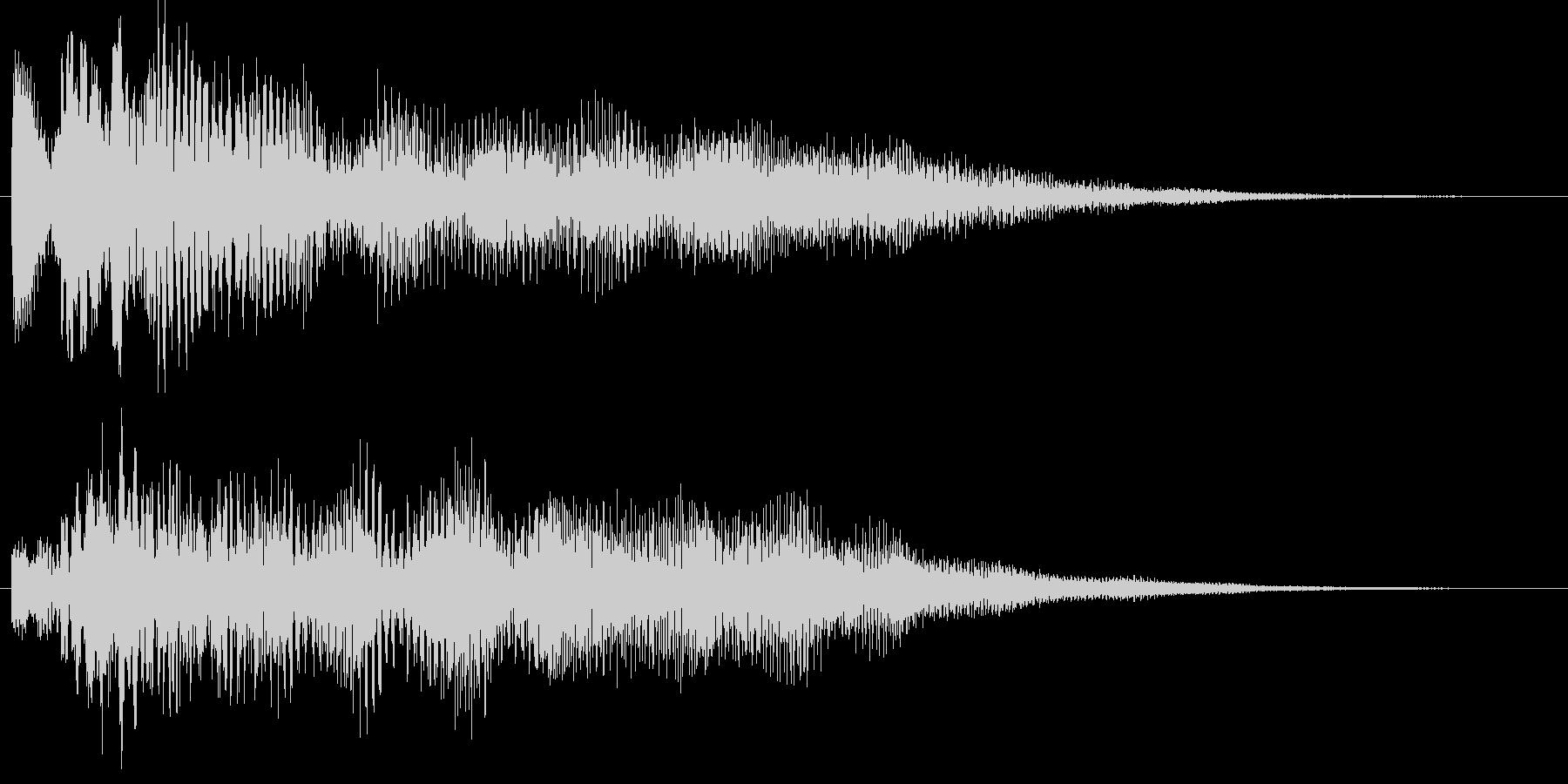 ポロリローン(低音デジタルチャイム)の未再生の波形