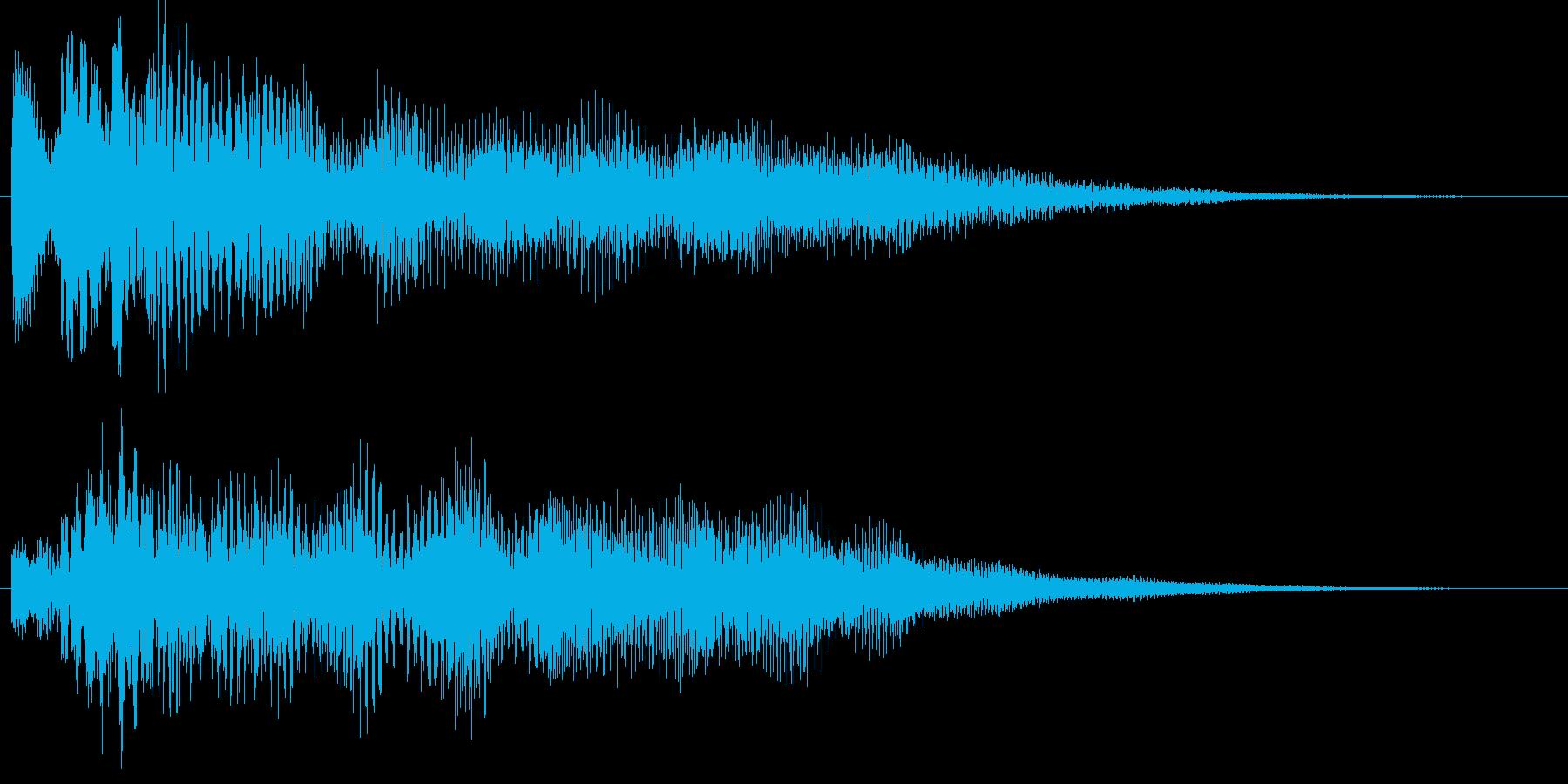 ポロリローン(低音デジタルチャイム)の再生済みの波形
