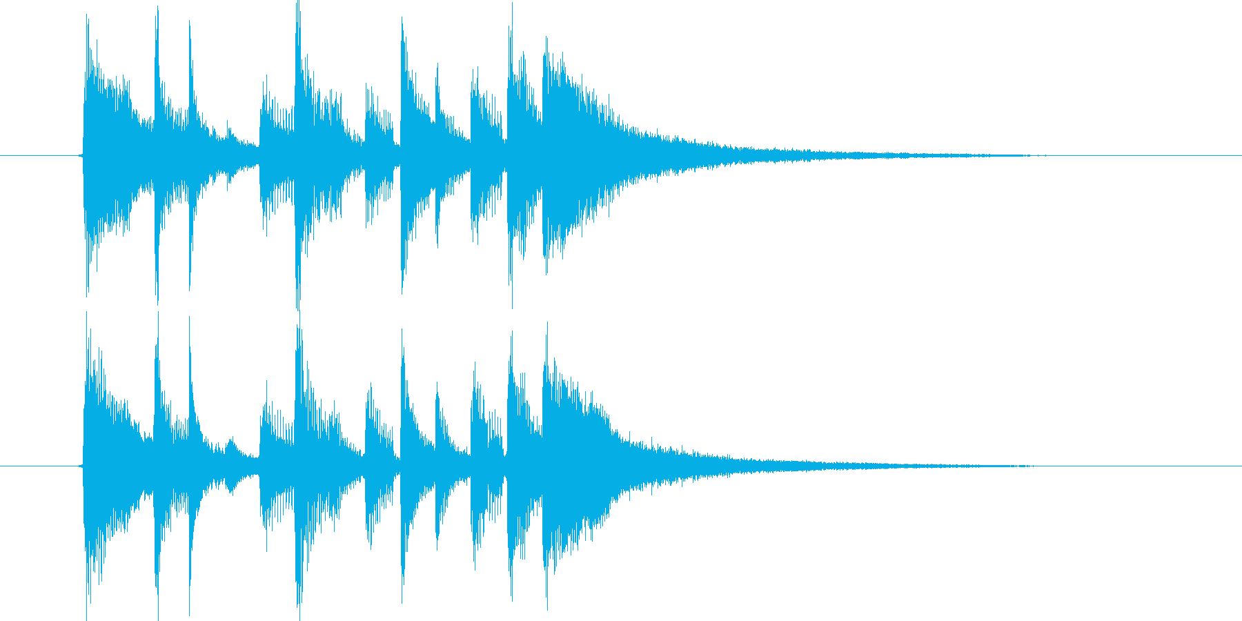 おしゃれなリズミカルポップスの再生済みの波形