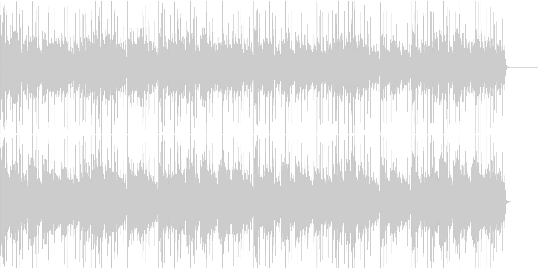 差をつけるBGM(HIPHOPJAZZ)の未再生の波形