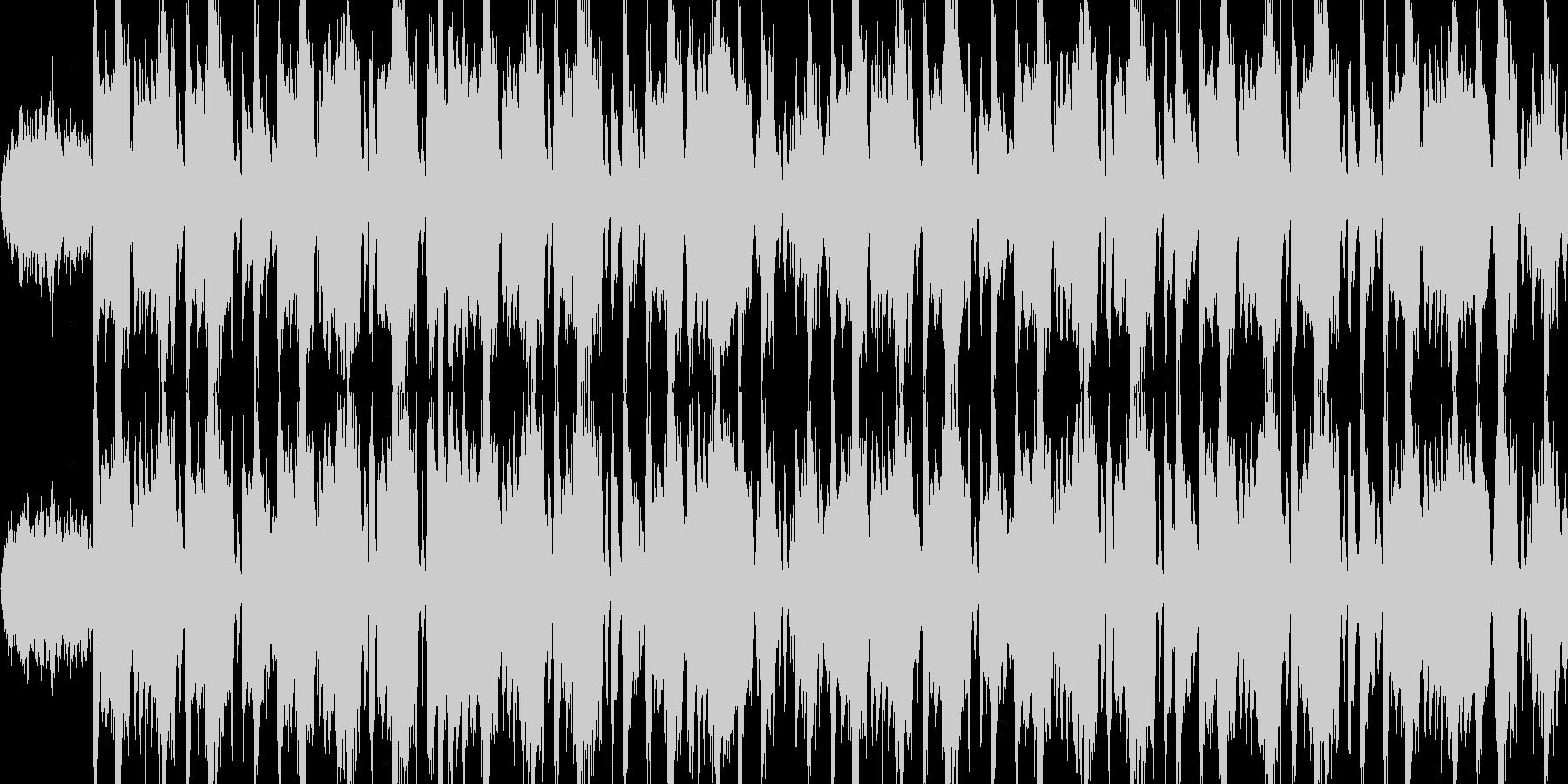 ギター・ベースがクールなロックBGMの未再生の波形