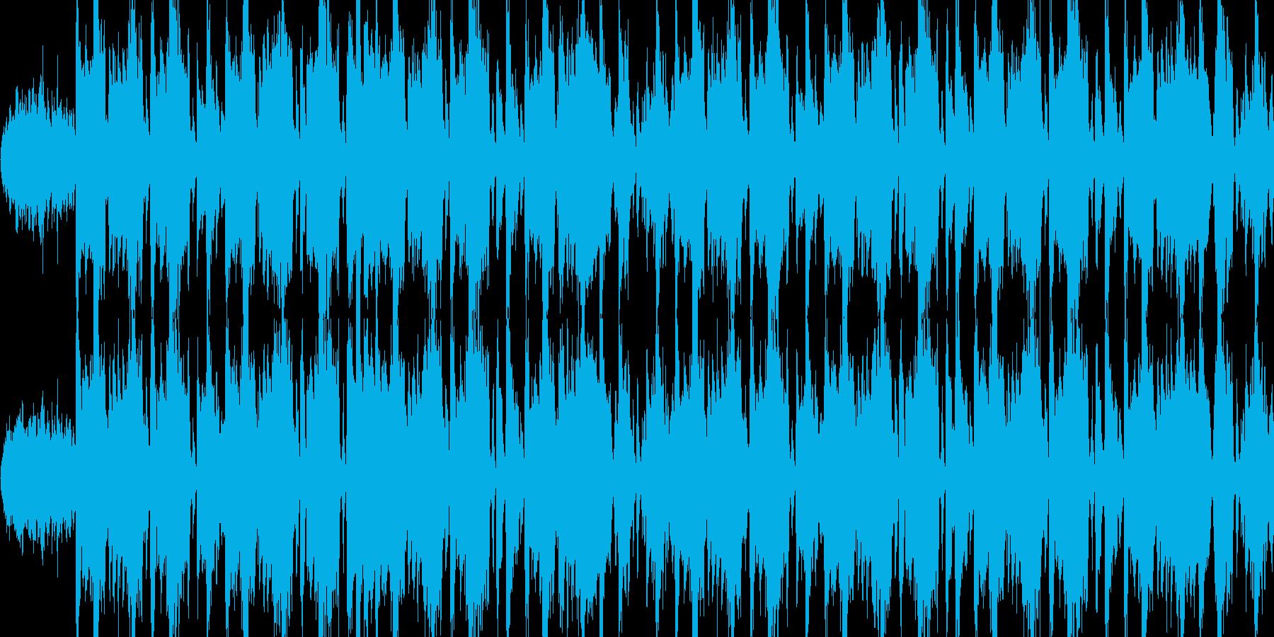 ギター・ベースがクールなロックBGMの再生済みの波形