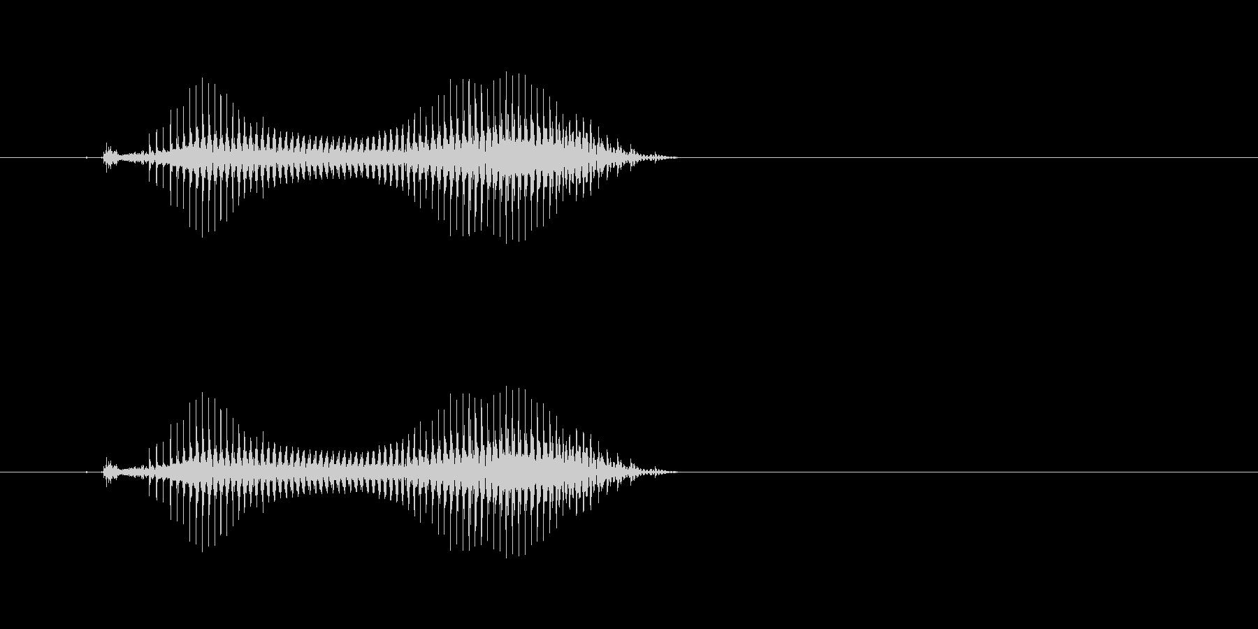 タンヤオ(麻雀)の未再生の波形