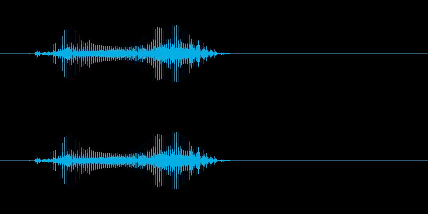 タンヤオ(麻雀)の再生済みの波形