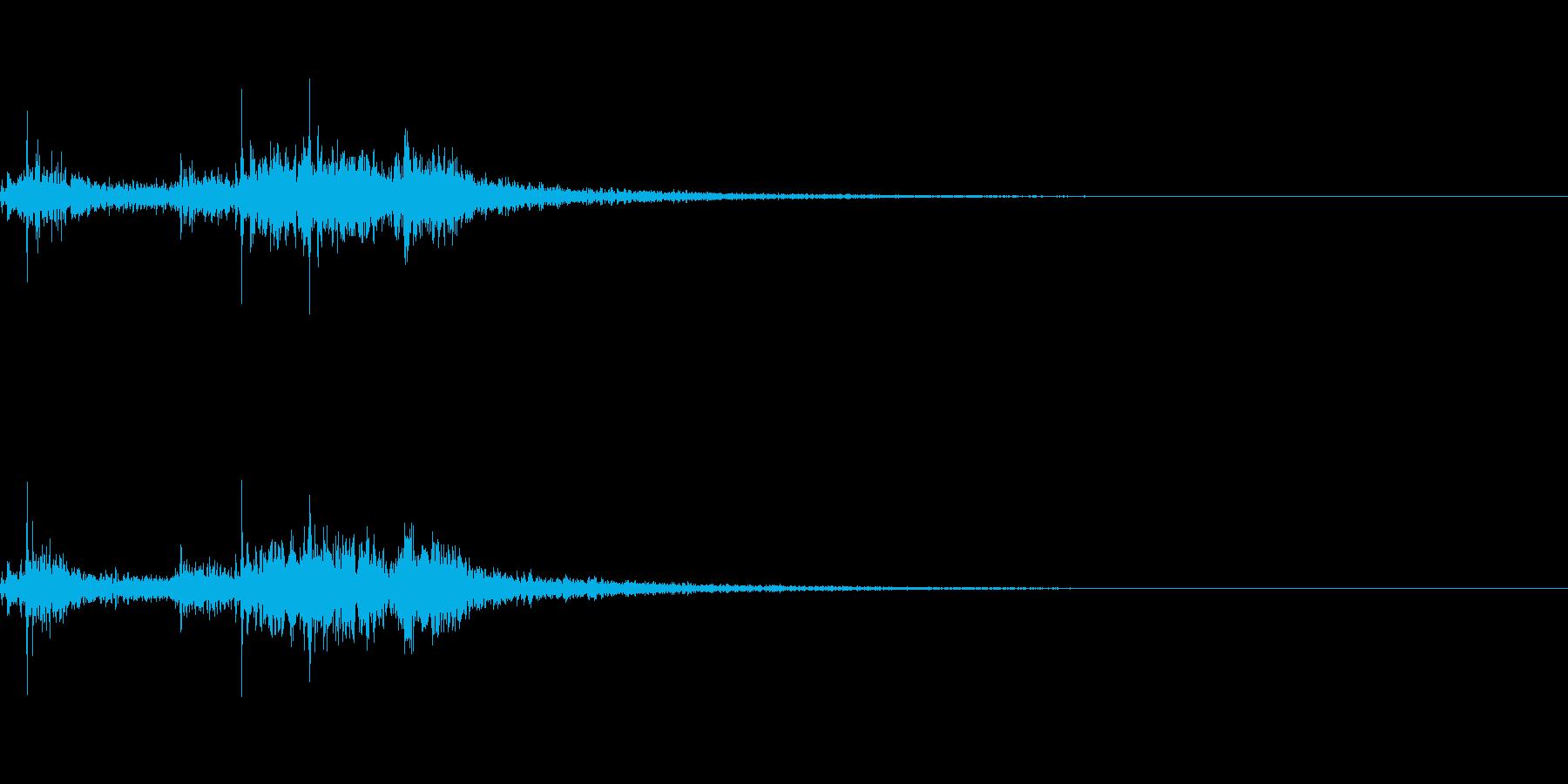 ヒュ〜!本当にリアルな花火の効果音です!の再生済みの波形