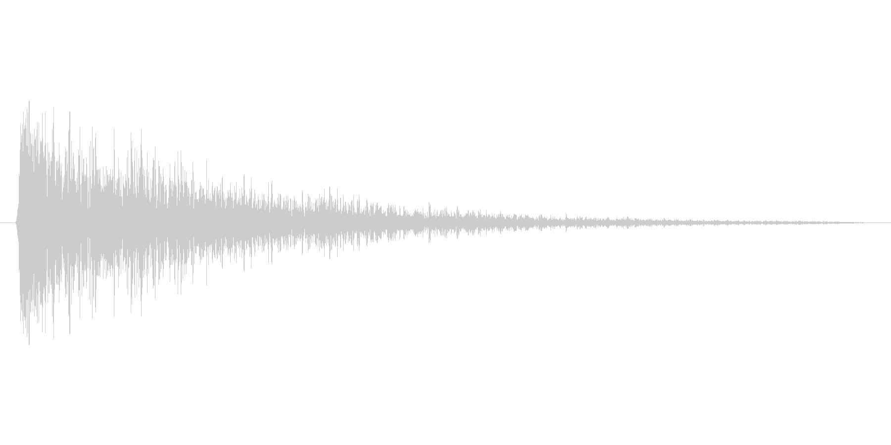 ドン(残響あり)の未再生の波形