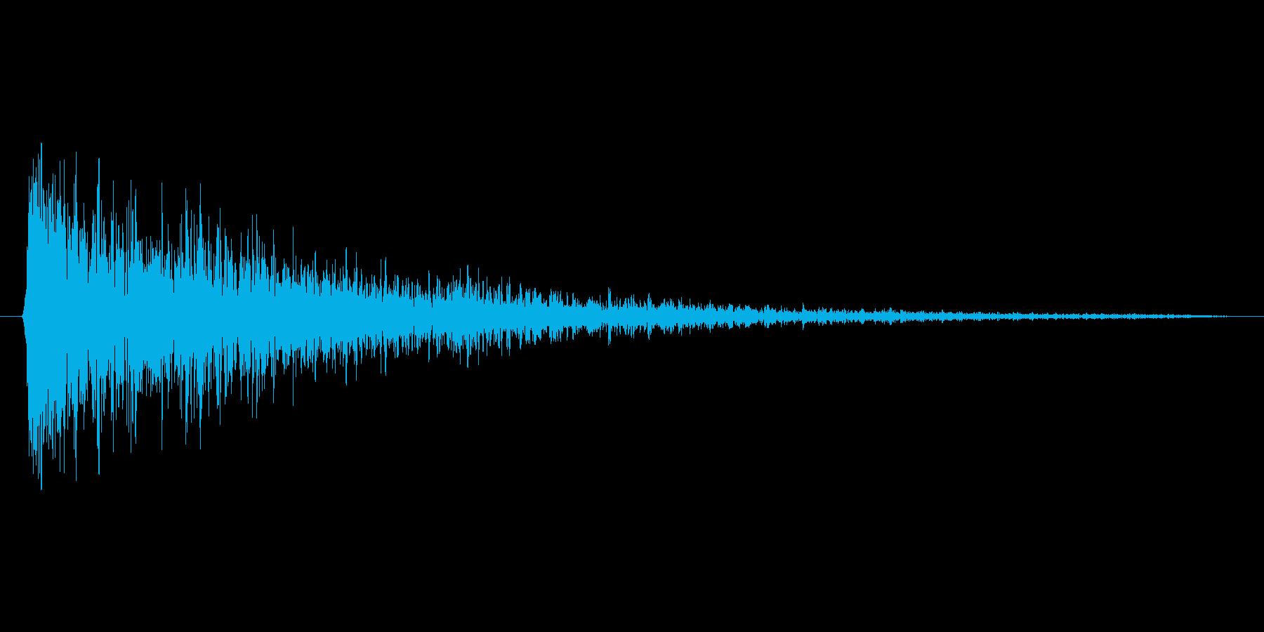 ドン(残響あり)の再生済みの波形