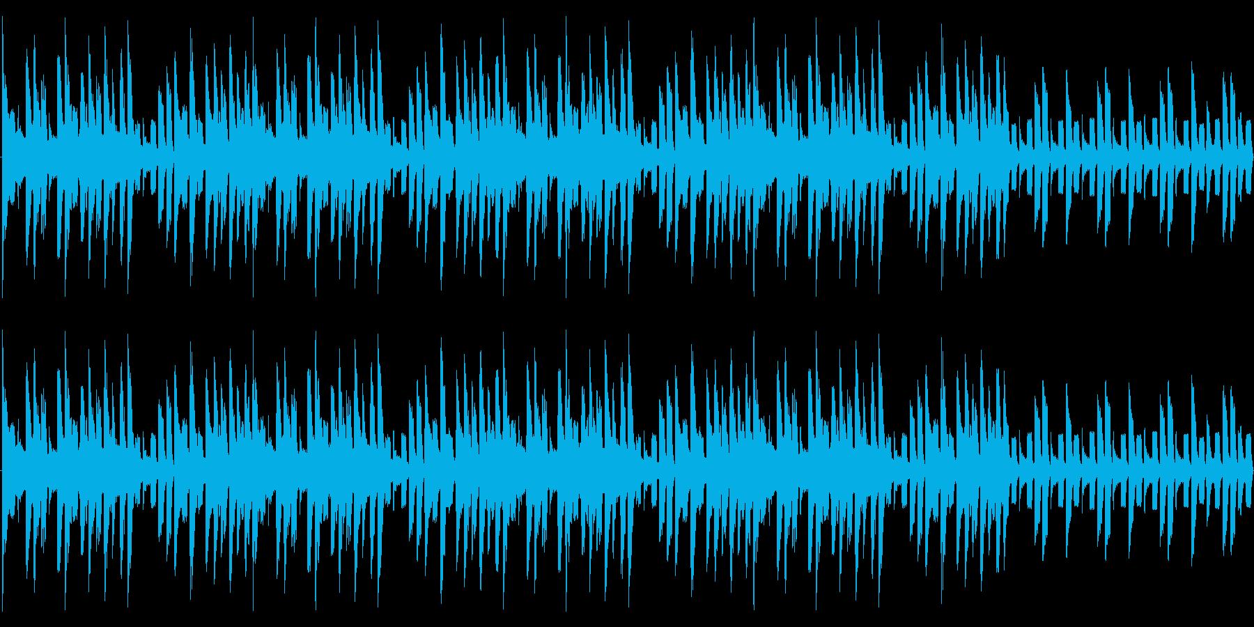 和風っぽいコミカルなジングルの再生済みの波形