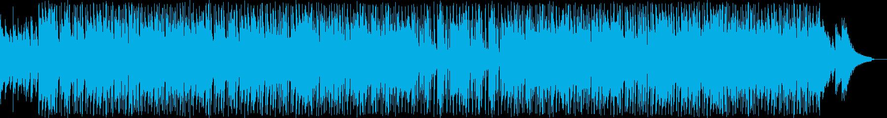 アーバンなヒップホップ風トラックの再生済みの波形