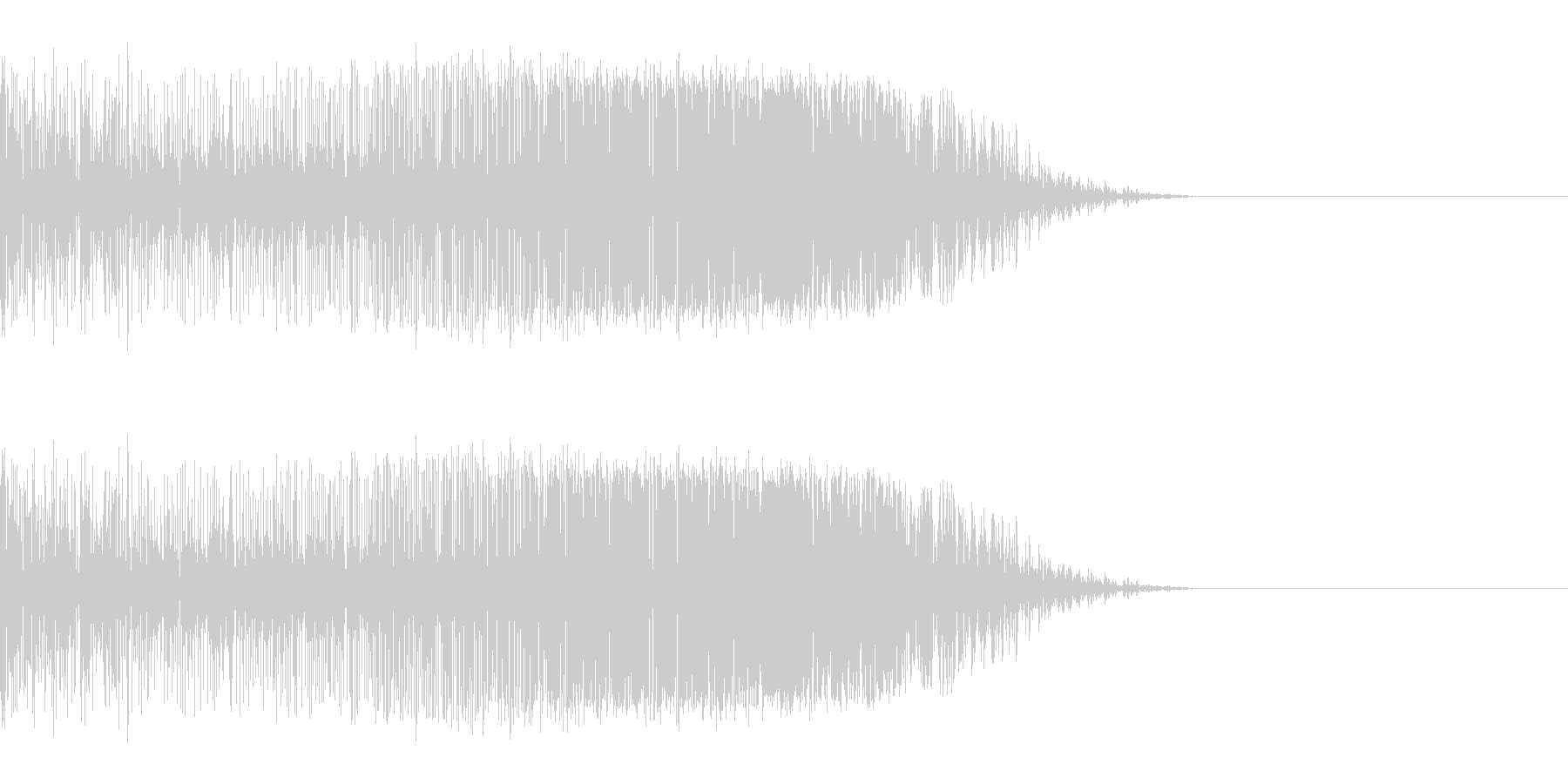 シュッ(スワイプ/アプリ/ゲーム)の未再生の波形