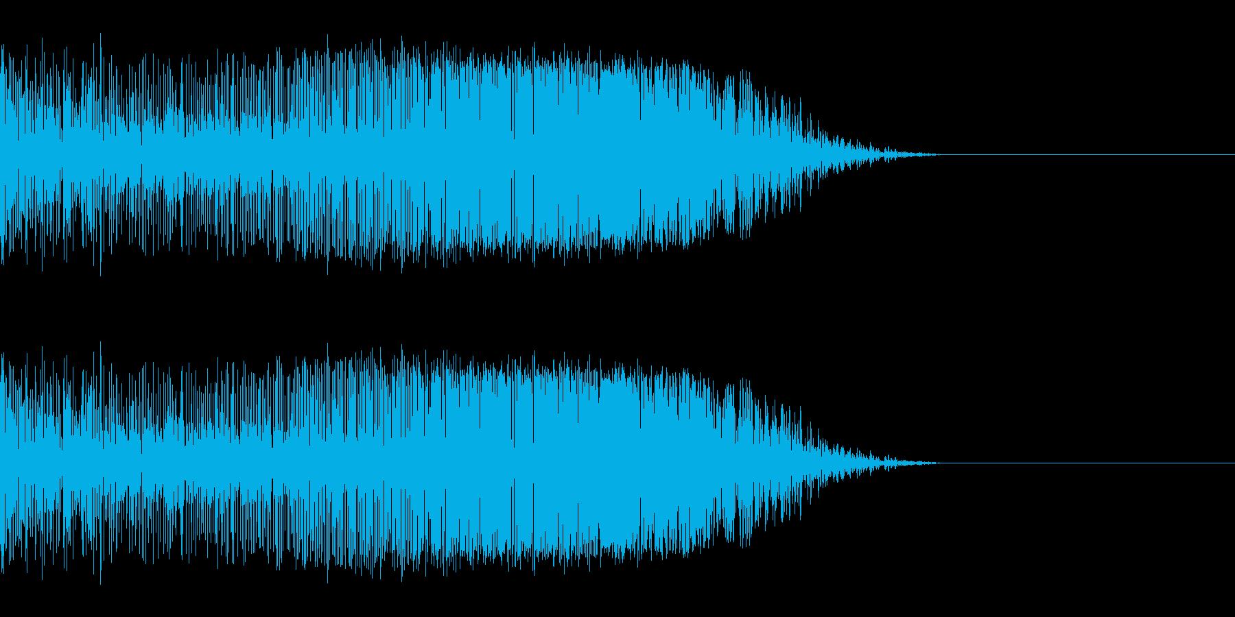 シュッ(スワイプ/アプリ/ゲーム)の再生済みの波形