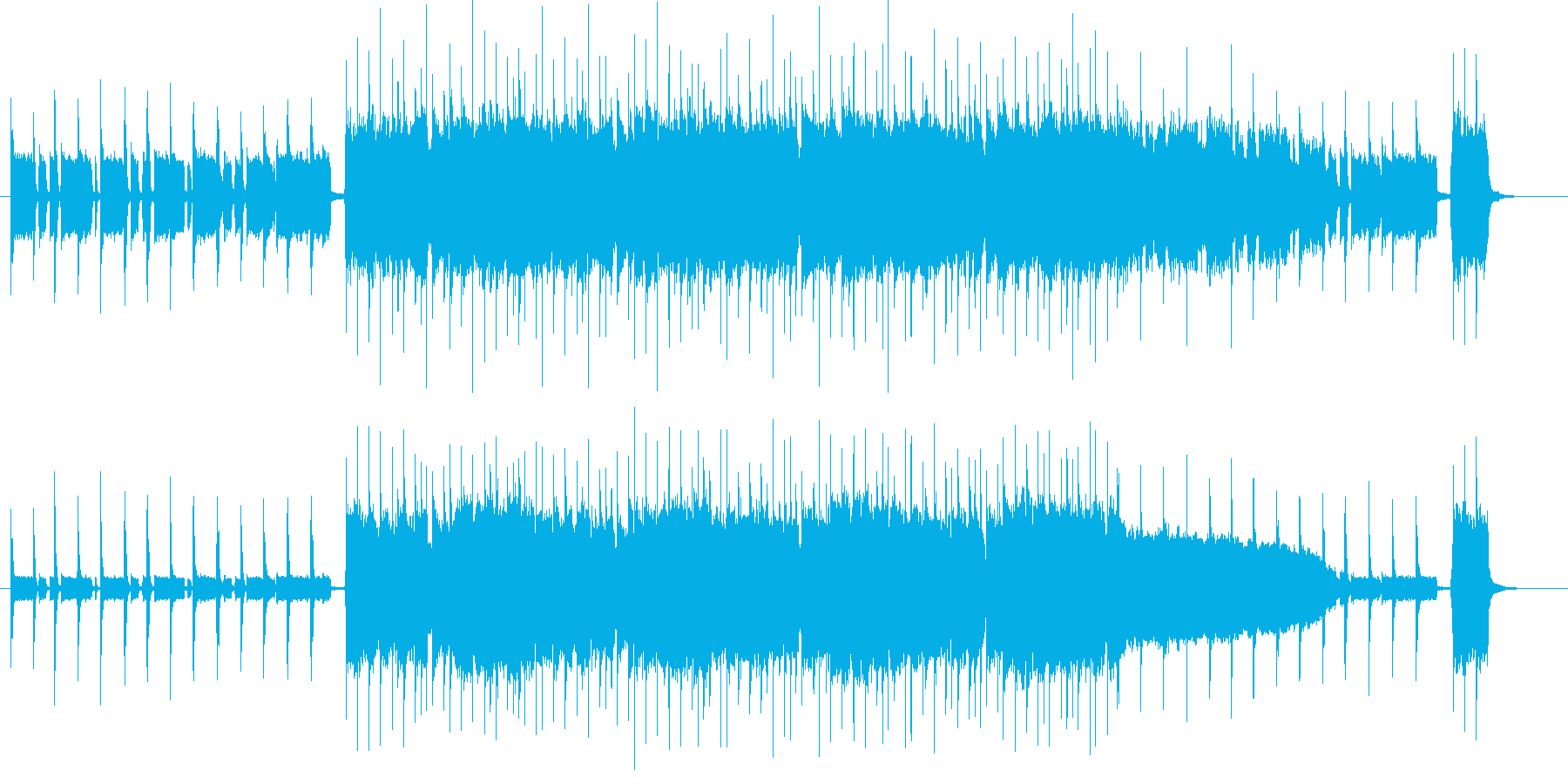 手拍子叩いて軽快なアメリカン風ロックの再生済みの波形