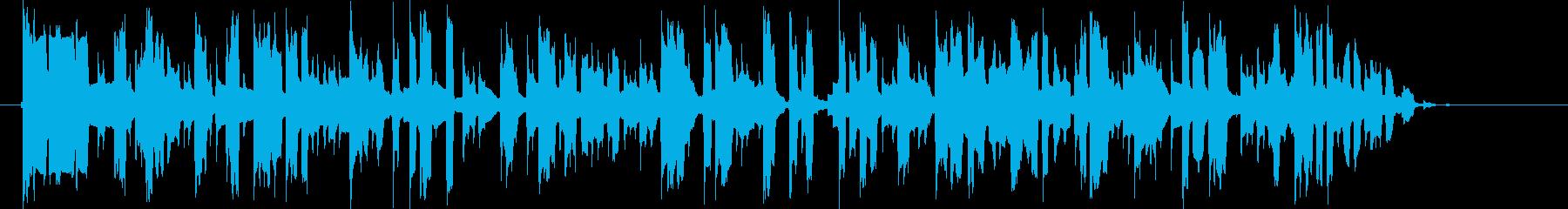 宇宙や近未来感のある音(通信、マシーン)の再生済みの波形