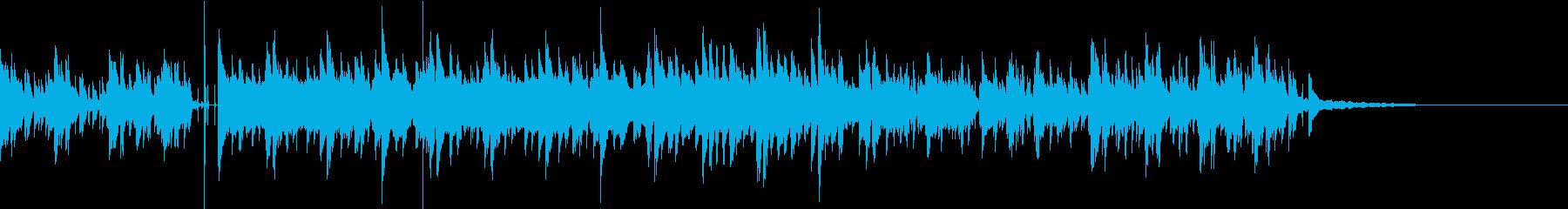 ラテン風ギターとピアノのダンスナンバーの再生済みの波形