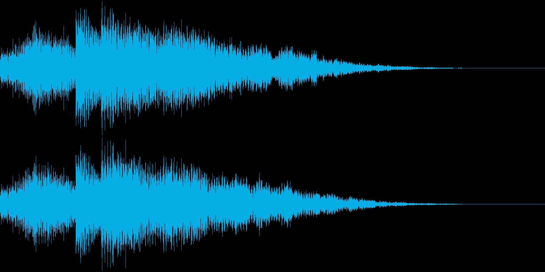 不安感のあるチャイム(グワーカコーン)の再生済みの波形