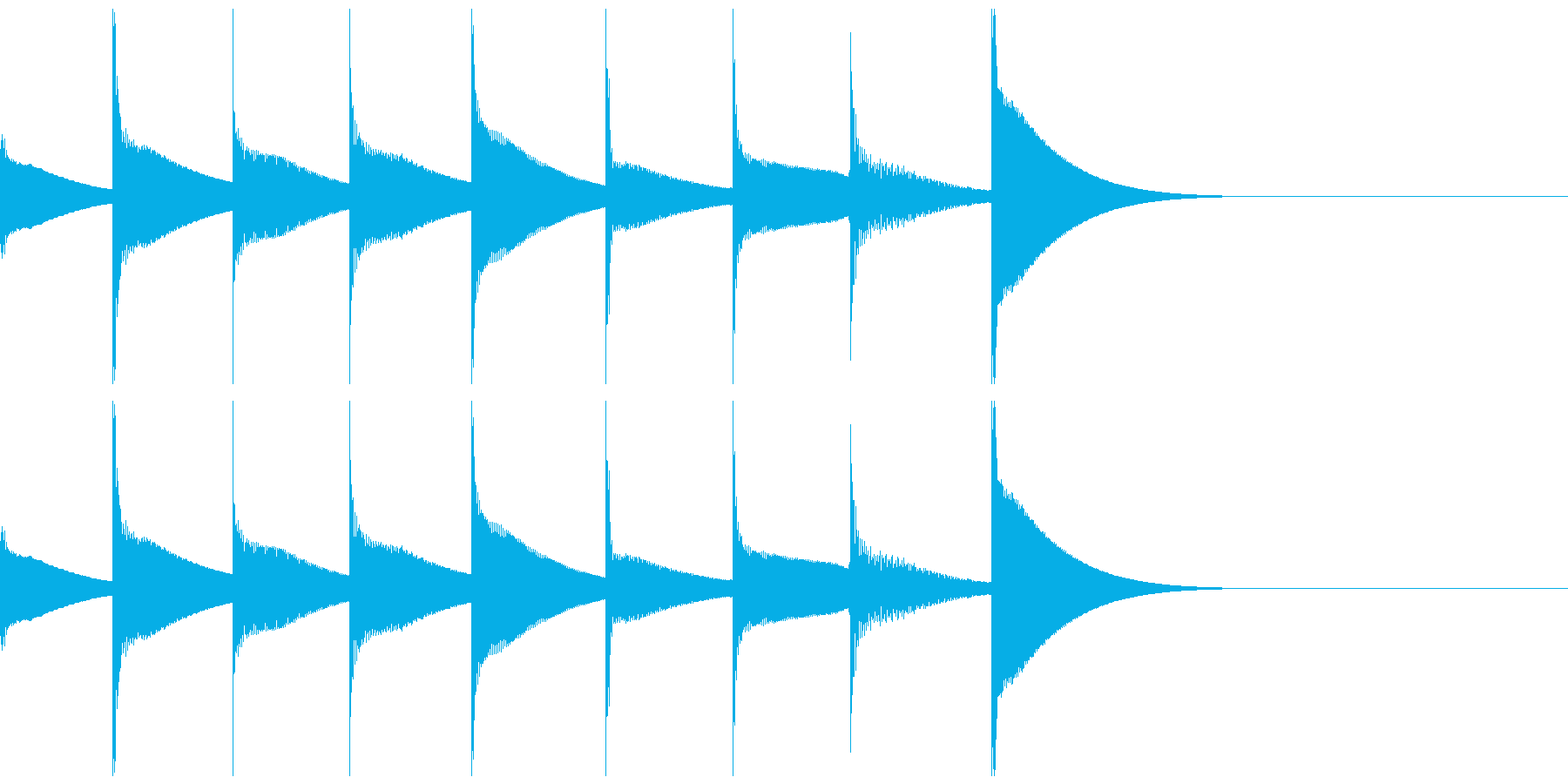 【SE 効果音】不気味なメロディの再生済みの波形