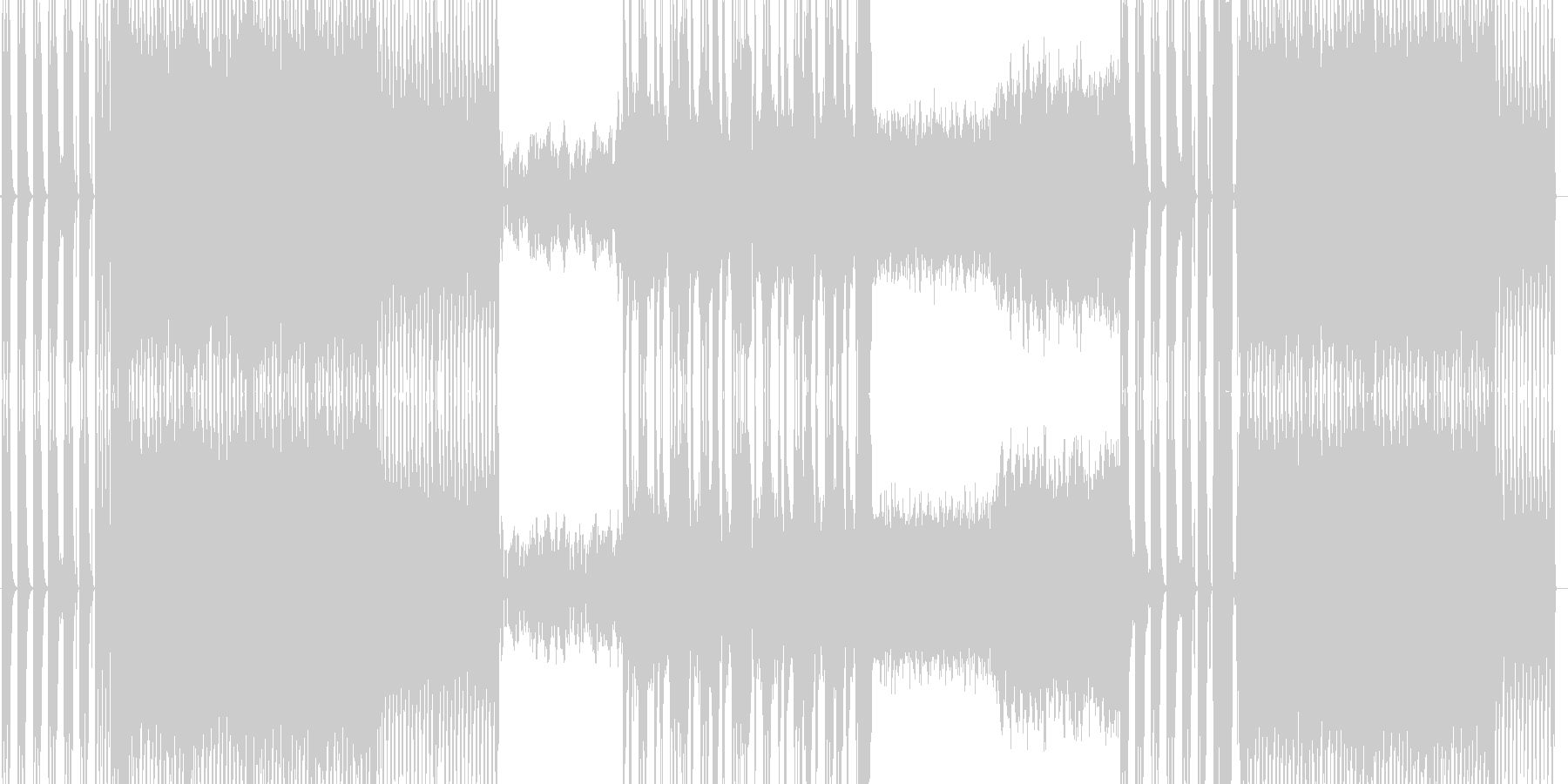 ギターインスト×EDMの未再生の波形