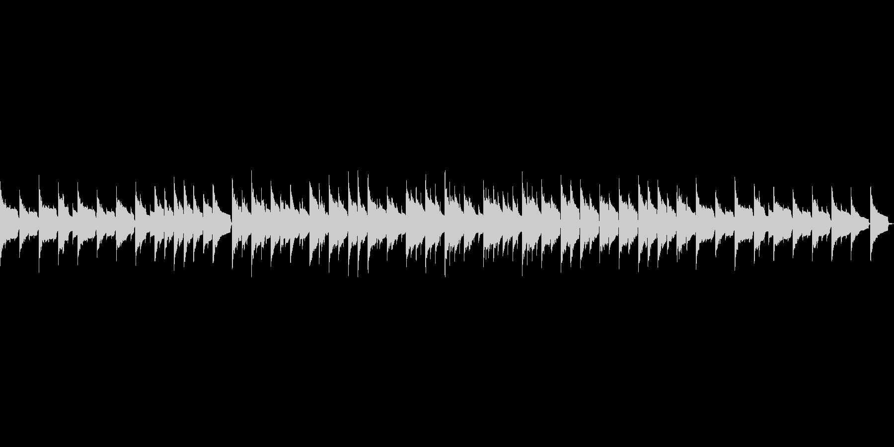 ほのぼのしたオルゴールの未再生の波形