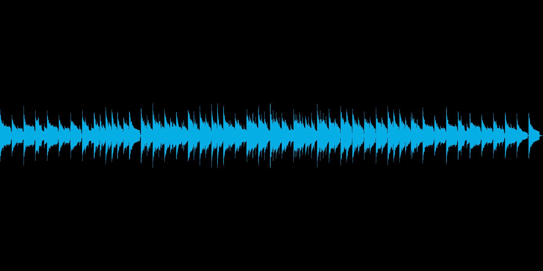 ほのぼのしたオルゴールの再生済みの波形