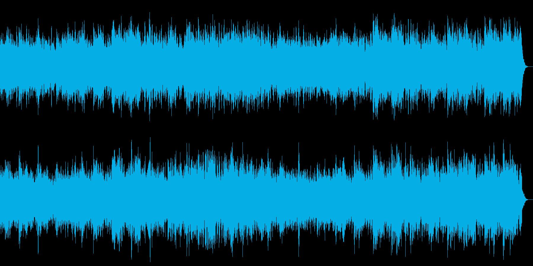恐怖感の演出 怖いシーン向けのBGMの再生済みの波形