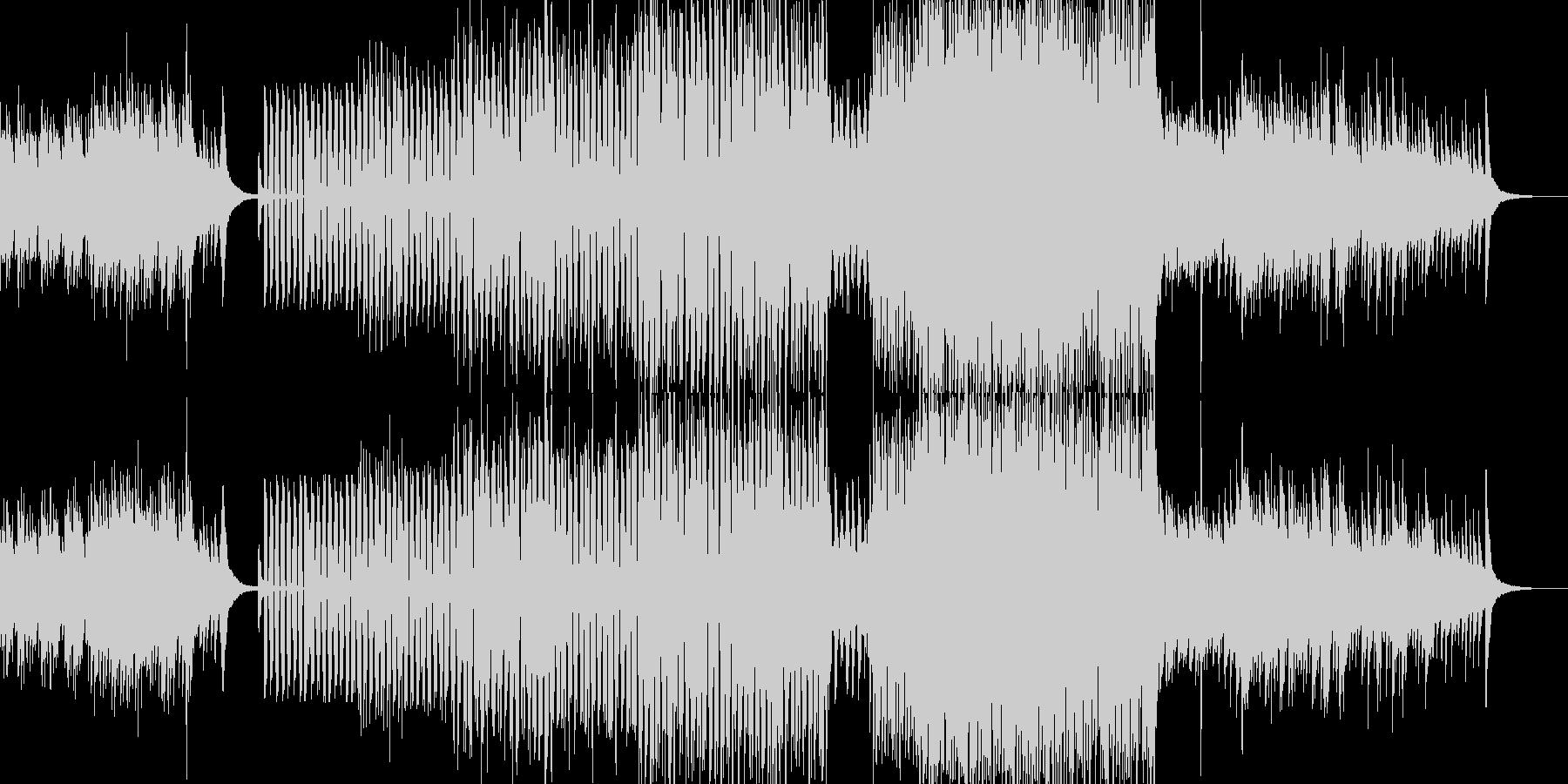 ハープシコードと軽快なブラスジャズの未再生の波形