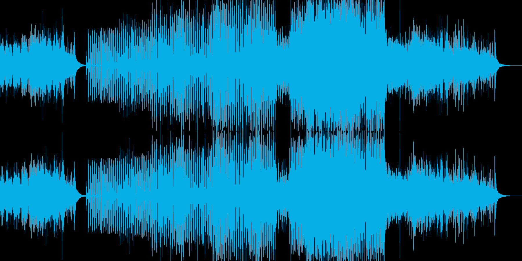 ハープシコードと軽快なブラスジャズの再生済みの波形