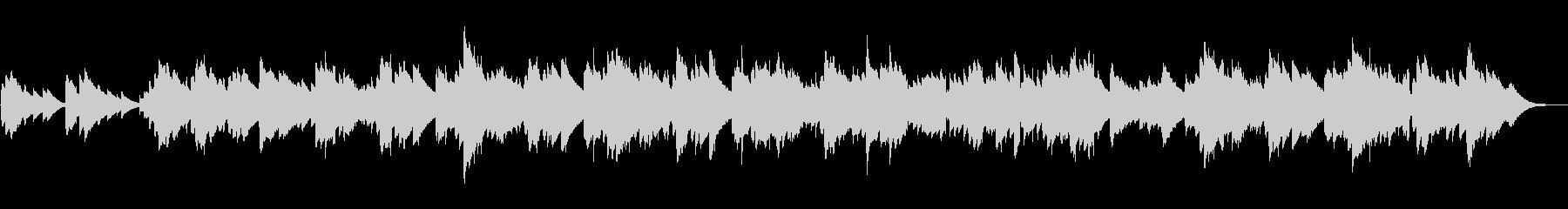 ノスタルジックなオルゴール風BGMの未再生の波形