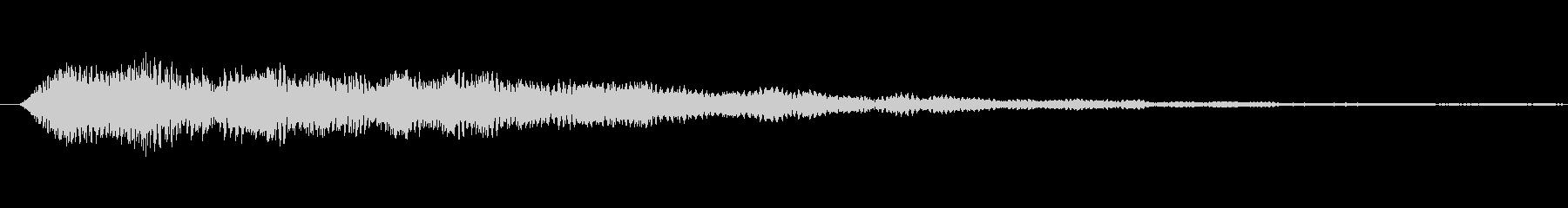 パアァ……【光、魔法、回復、お題表示】の未再生の波形