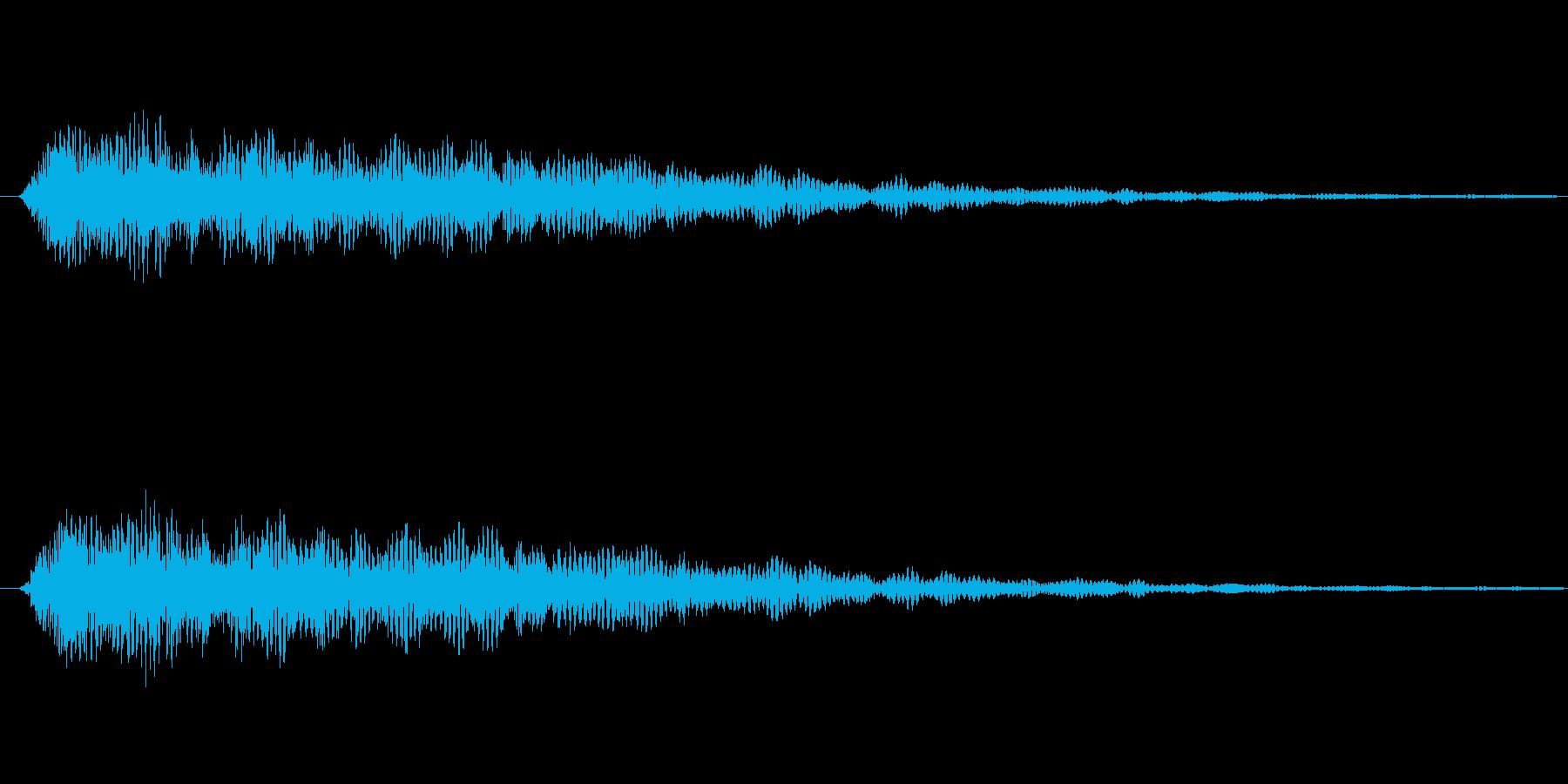 パアァ……【光、魔法、回復、お題表示】の再生済みの波形