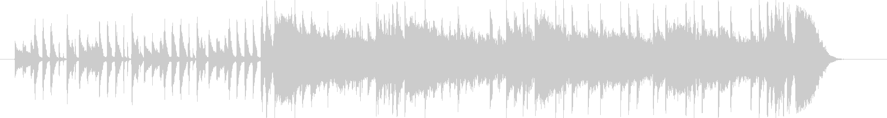 疾走感とドキドキ感のシンセギターサウンドの未再生の波形
