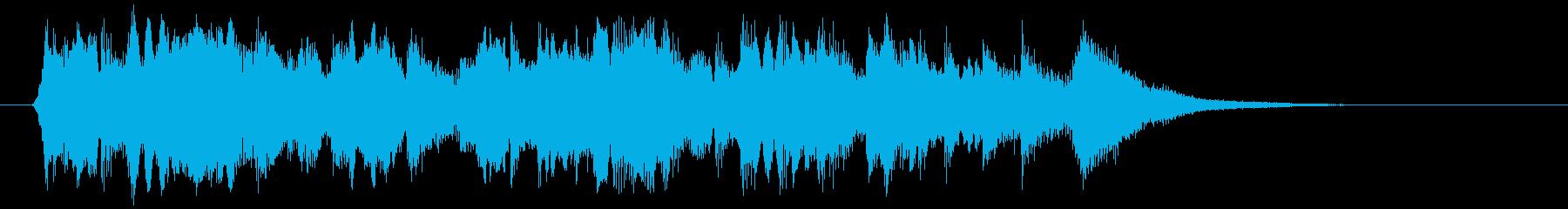 やさしいアコギが特徴のバラードのジングルの再生済みの波形