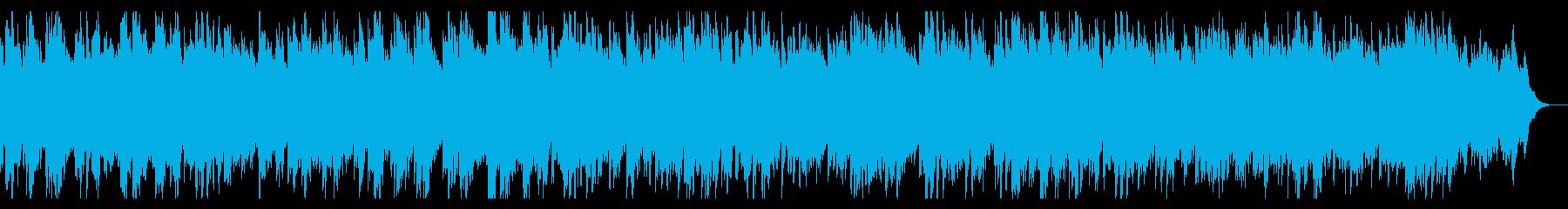 切なくダークな雰囲気のアルペジオの再生済みの波形