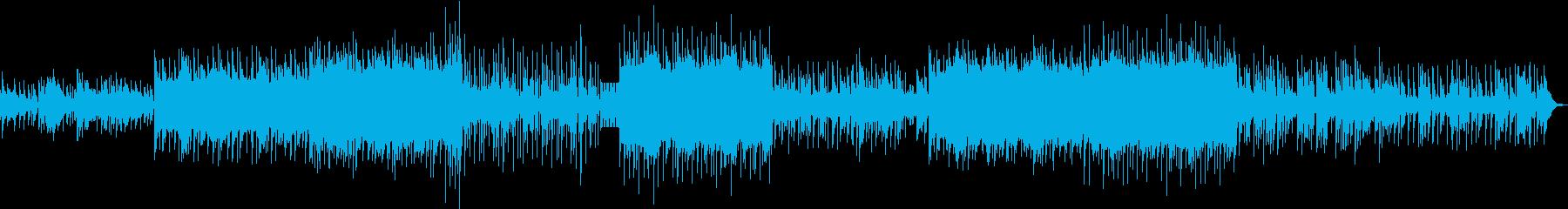 前向きなヒップホップ系のポップスの再生済みの波形