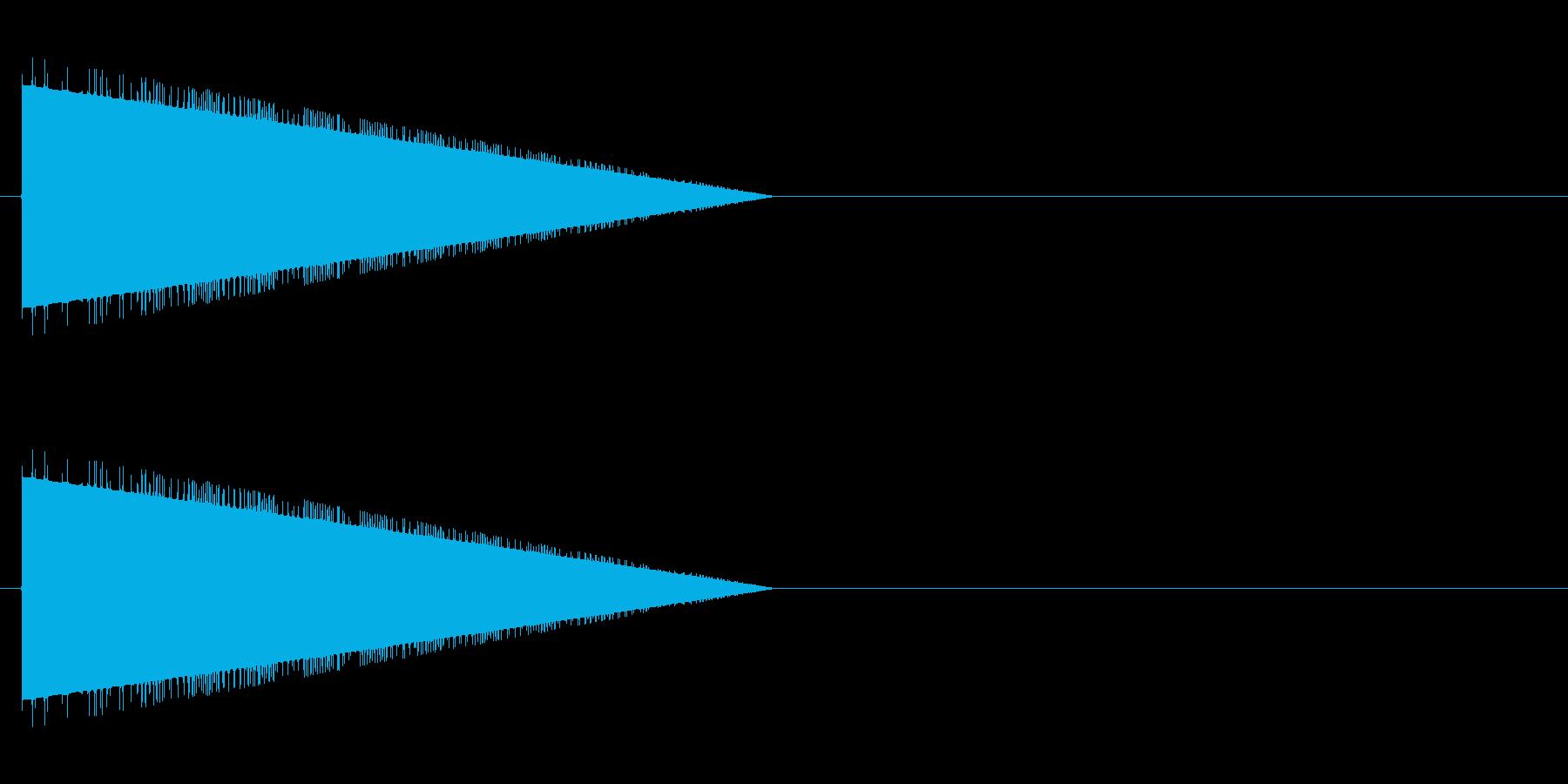 レトロゲーム風・モンスターの鳴き声の再生済みの波形