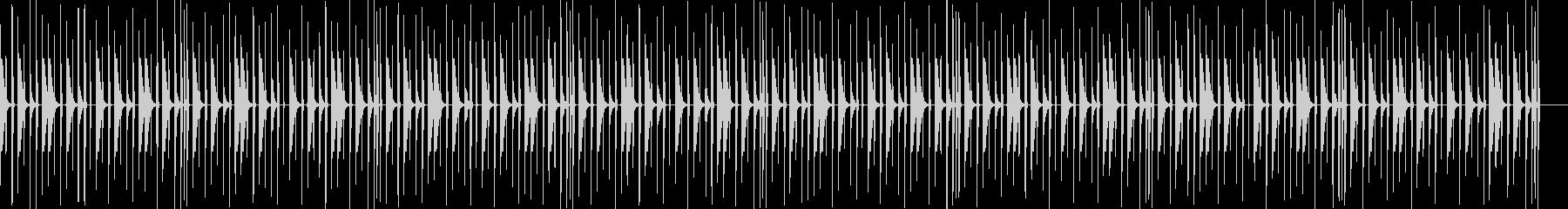 チープなドラムフレーズの未再生の波形