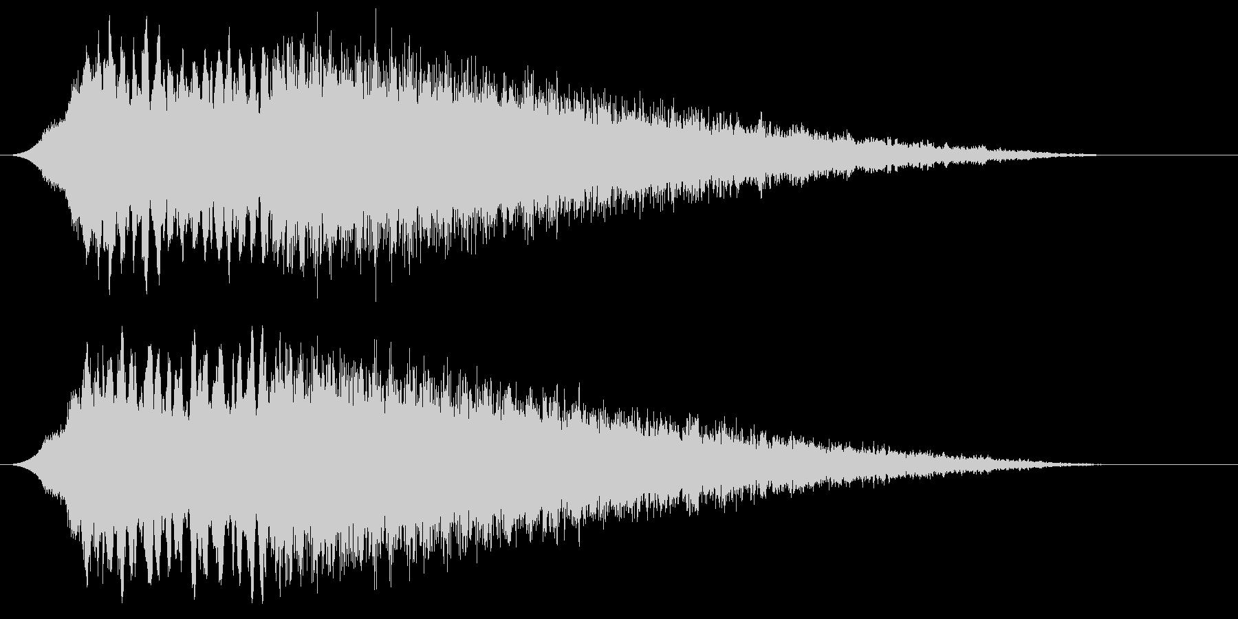 ディスコサイレン タイプAの未再生の波形