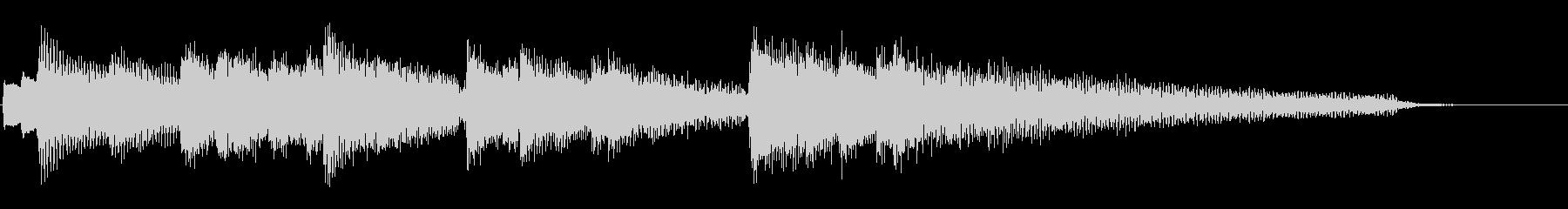 ピアノ アルペジオ ジングル 素材 短めの未再生の波形