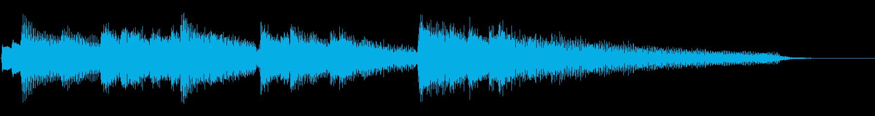 ピアノ アルペジオ ジングル 素材 短めの再生済みの波形