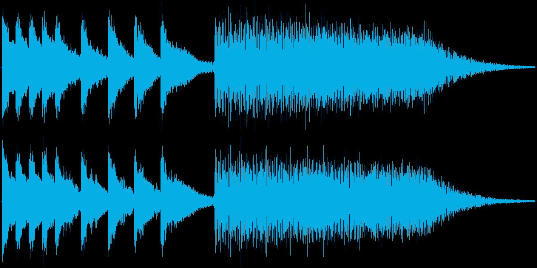 ボワワワワーン(中国風のジングル)の再生済みの波形