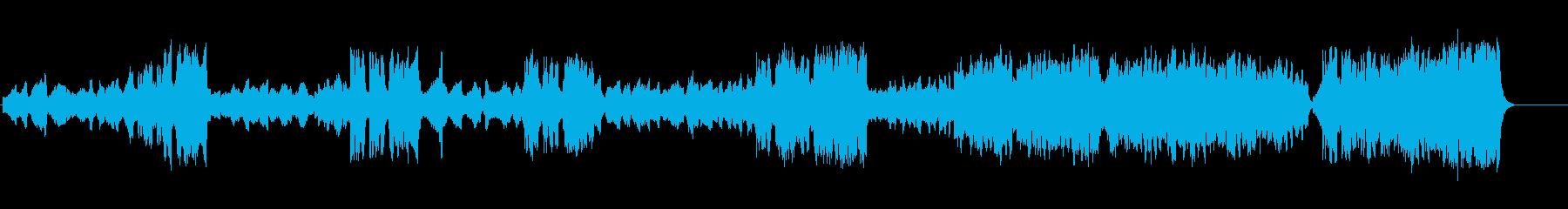 イースターを祝う曲 華やかな弦と金管の再生済みの波形