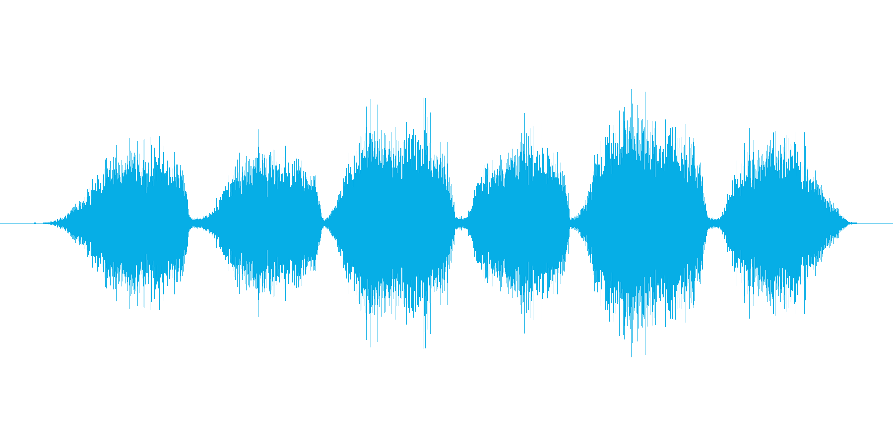 黒板消しで字を消す音の再生済みの波形