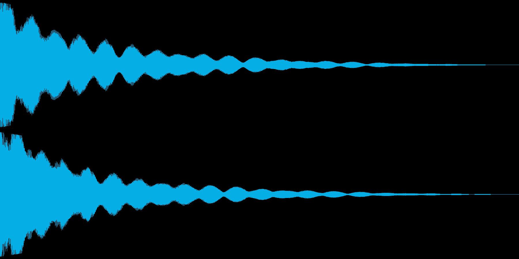 チーン 仏具の鐘、お鈴 ver.Aの再生済みの波形