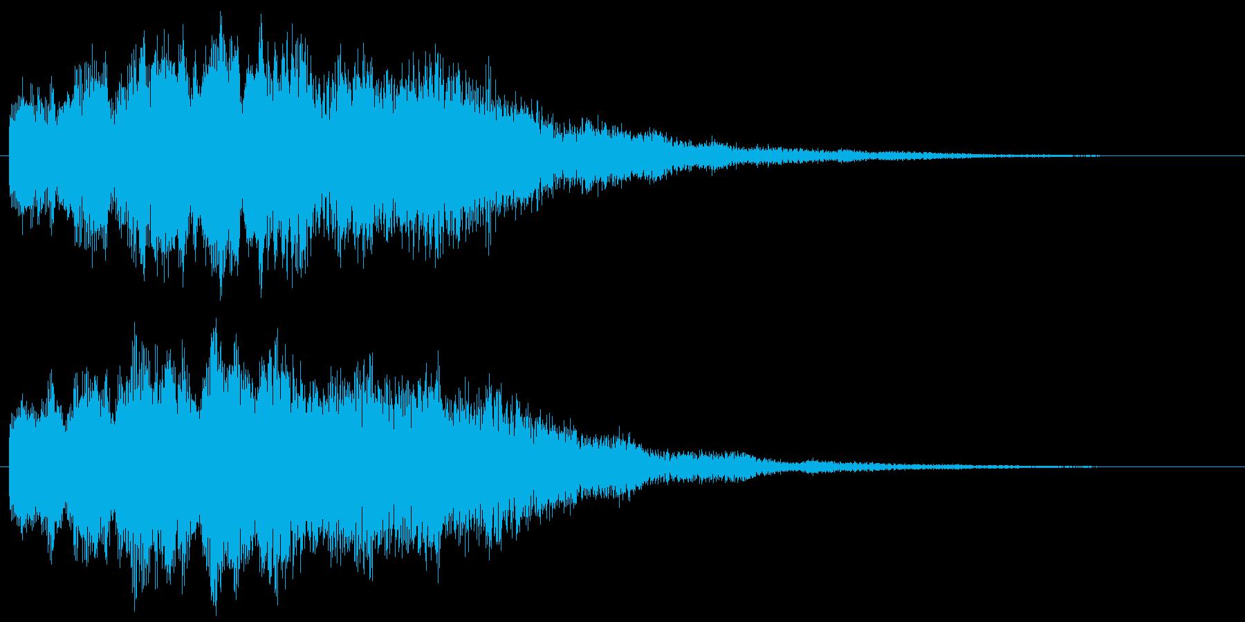 優しい煌びやかな音のサウンドロゴ ポップの再生済みの波形