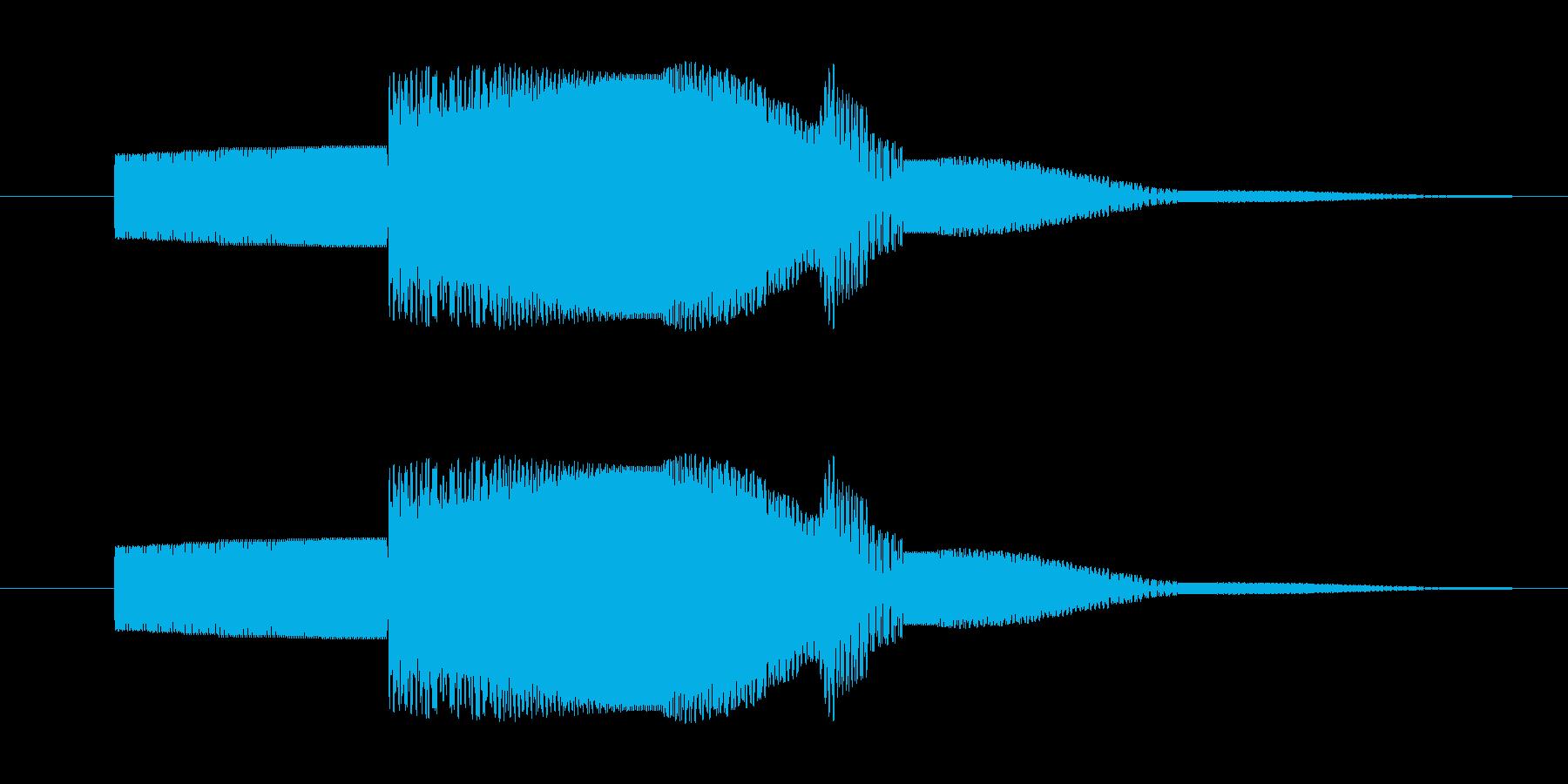 電子音的ボタン音の再生済みの波形