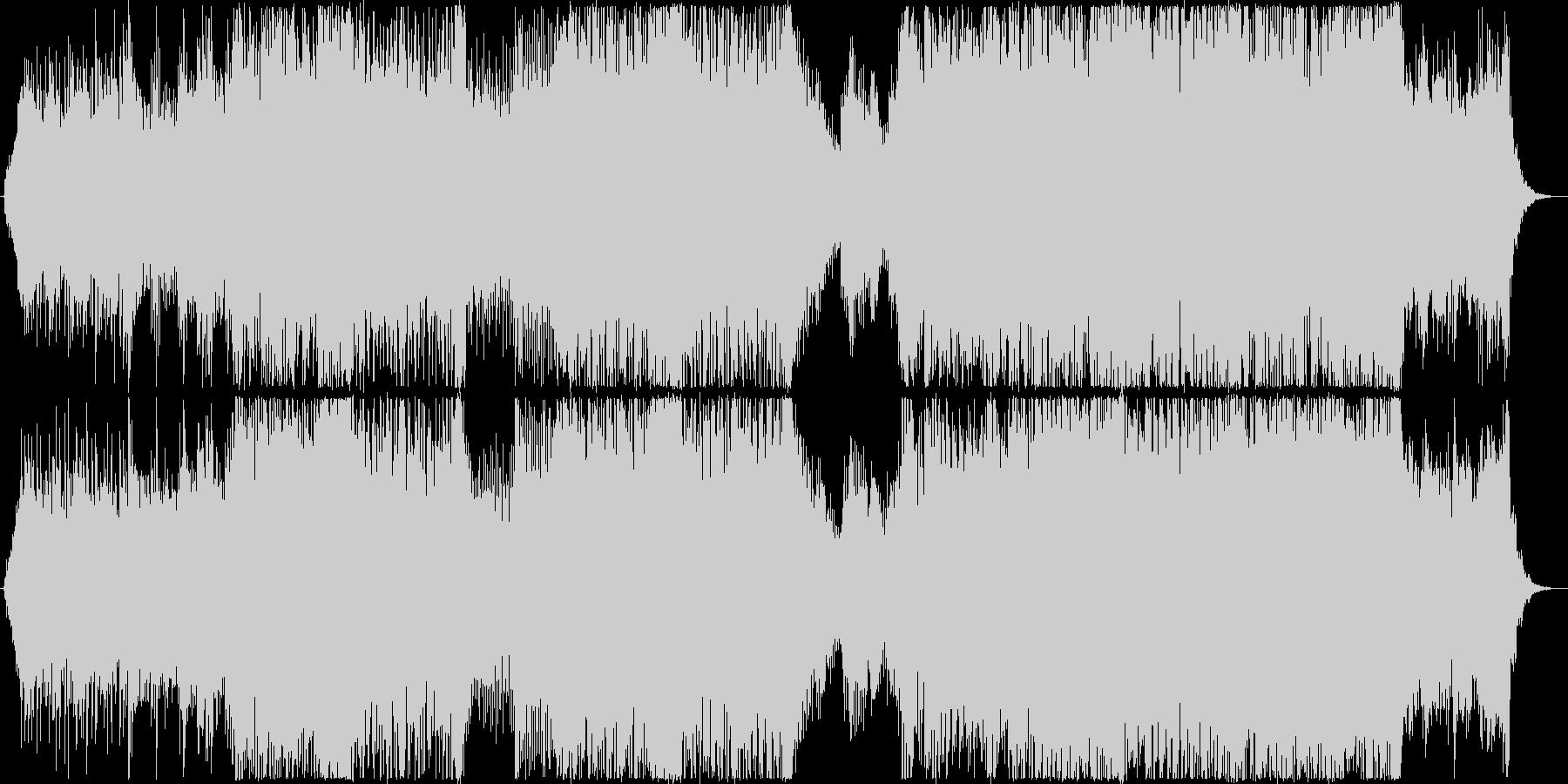 疾走感があり印象的な和風ピアノサウンドの未再生の波形